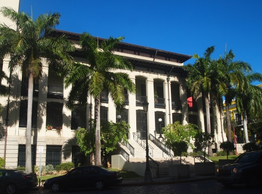 The U.S. Post Office in the center of Old San Juan, a formidable presence