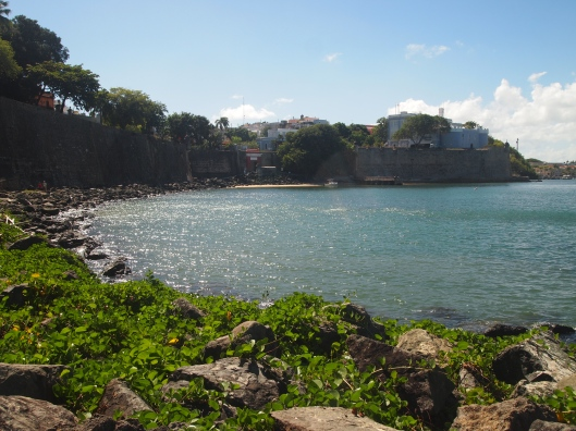 View of Bahia de San Juan from the mile-long Paseo del Morro