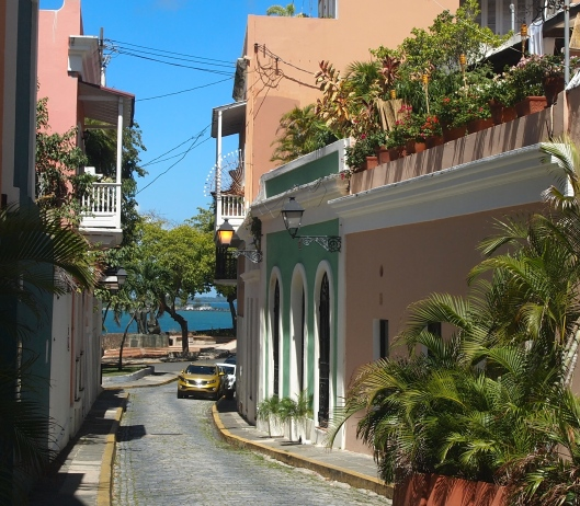 Streets of San Juan looking out to the bay