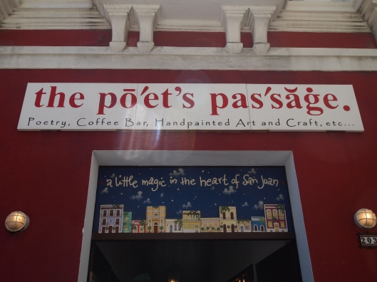 The Poet's Passage sits at one end of Plaza de Armas