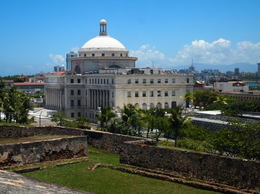 view of the Capitol from Castillo de San Cristóbal