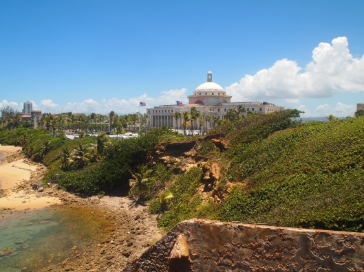 view of Capitol from Castillo de San Cristóbal