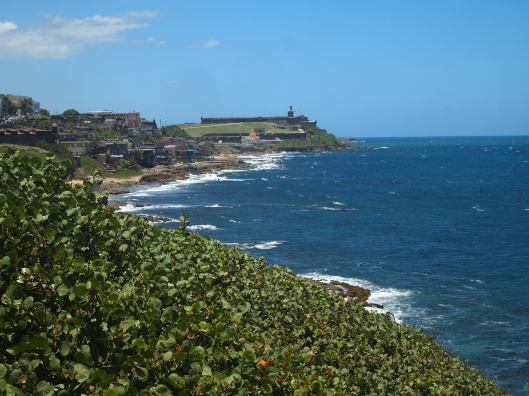 Looking to the west toward El Morro from Castillo de San Cristóbal