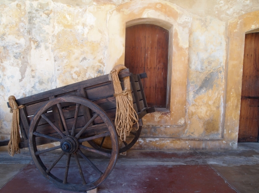 cart at Castillo de San Cristóbal