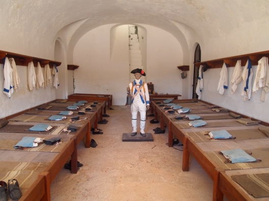 Soldiers' quarters at Castillo de San Cristóbal