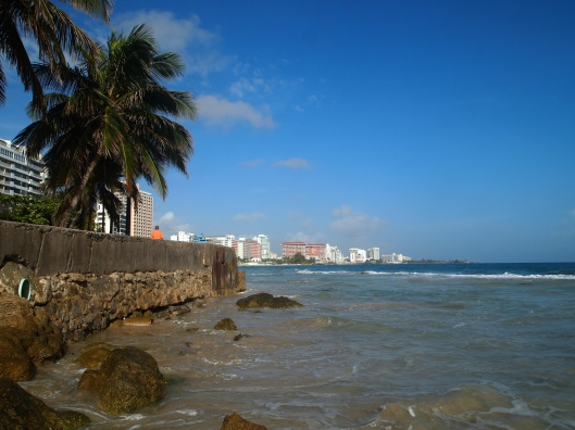 Around the point, views of Condado