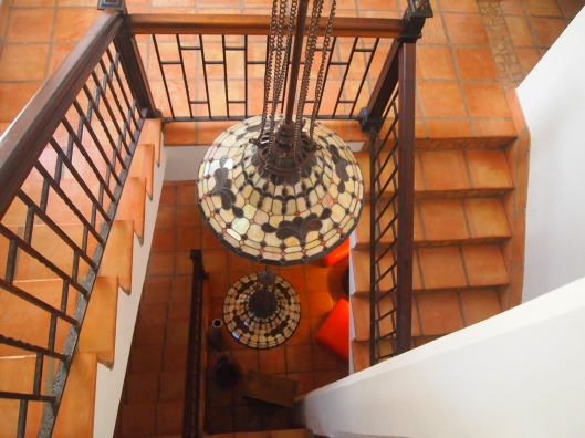 the indoor staircase ~ Acacia Boutique Hotel