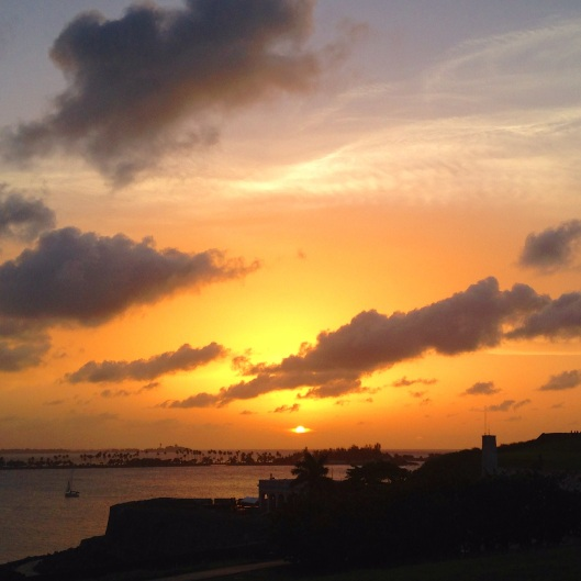Sunset in Old San Juan