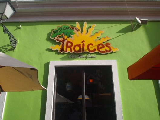 Raices, where we ate our first night and where we'll eat again tonight