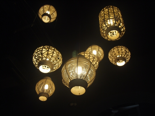 Cool lights in Cafe Cuatro Sombras