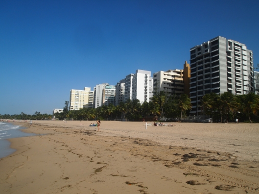 hotels & residences along the beach at Ocean Park