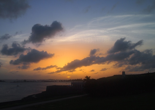 Sunset over Bahia de San Juan and El Morro